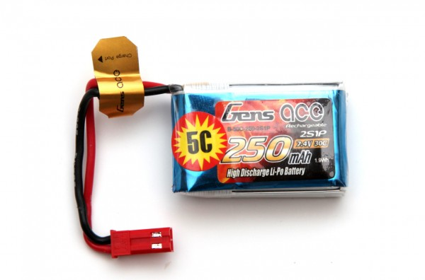 2s-7-4v-250-mah-gens-ace-30c-lipo-battery
