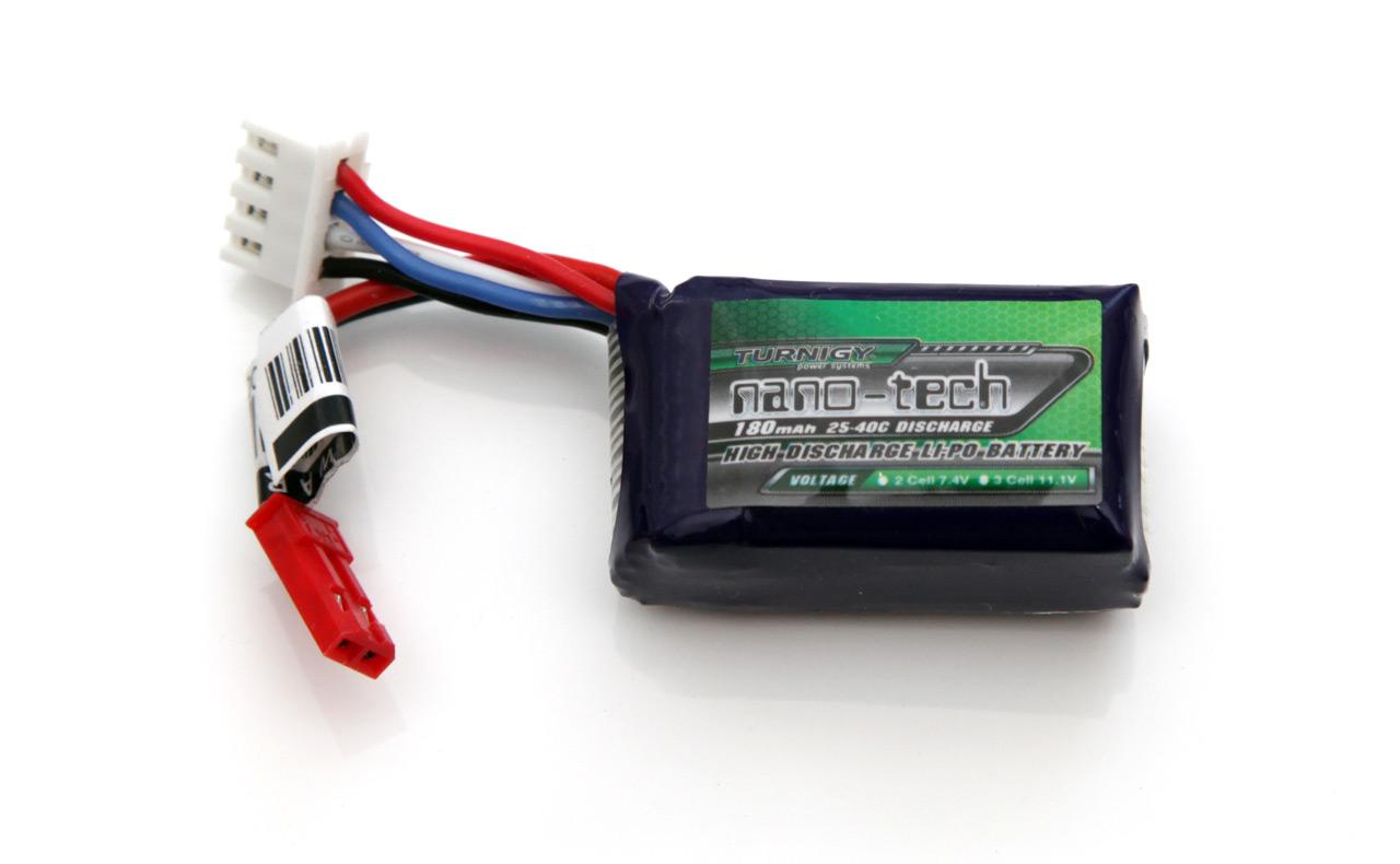 3S 11.1V 180 mAh Turnigy Nano-Tech 25-40C LiPo Battery