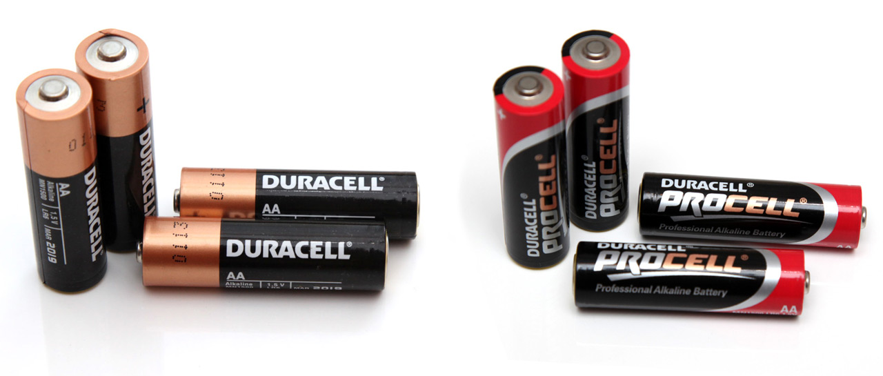 1 5v Aa Duracell Copper Top Vs Duracell Procell Alkaline