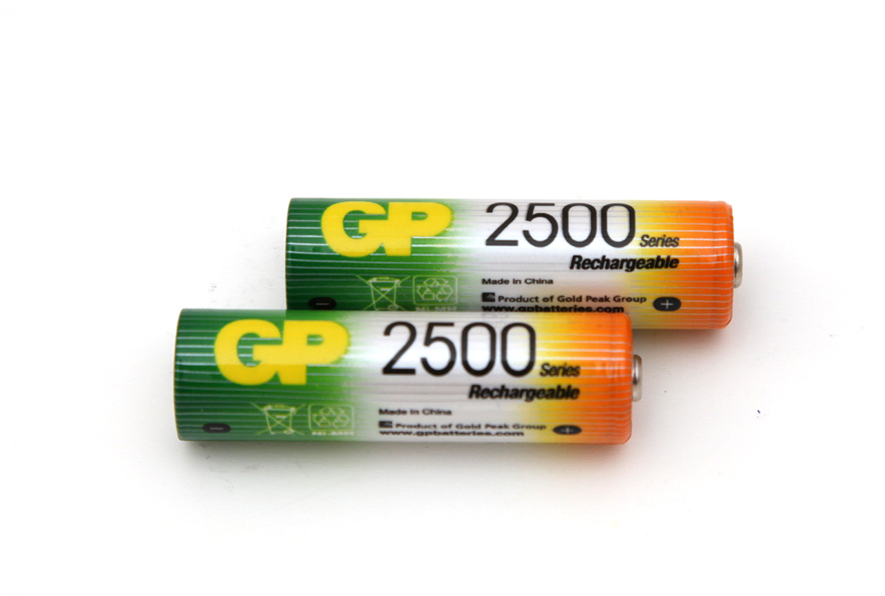 1 2v aa 2500 mah gp rechargeable nimh battery tests. Black Bedroom Furniture Sets. Home Design Ideas