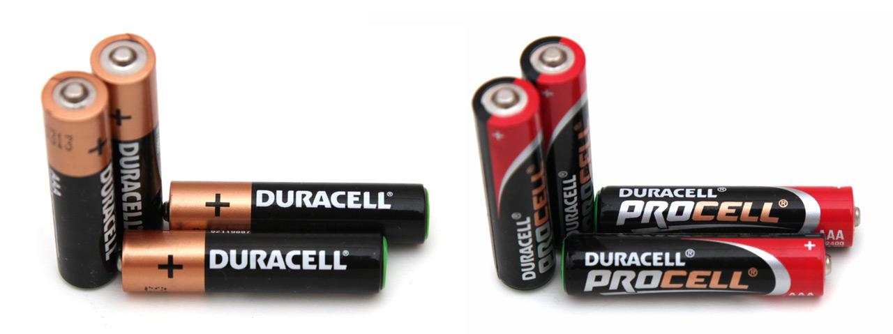 1 5v Aaa Duracel Copper Top Vs Duracell Procell Alkaline Batteries Rightbattery Com